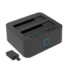 USB 3.0 to 2.5 3.5 inch SATA Hard Drive HDD SSD Duplicator Clone Docking Station