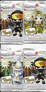 4 Maple Story NPC Heroes Packs Collectible Card Game TCG/CCG  Set 4, New Sealed