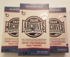 IN HAND 2020 Topps ARCHIVES SNAPSHOTS BOX Sealed Auto Pack FREE Shipping