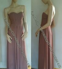 BCBG Maxazria Violet Lilac Gown Maxi Dress Dust Rose party  XXS Small 0 $169