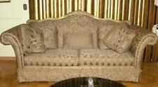 Schnadig Gorgeous Bronze Sofa has 5 pillows & wood frame for your Living Room.