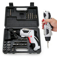 44 in 1 Rechargeable Cordless Electric Screwdriver Drill Kit Set w/ LED & Case