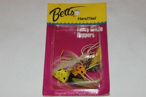 3 NOS Older 1990's BETTS Cork Fancy Grade Poppers Hand Tied Fly Fishing Lures
