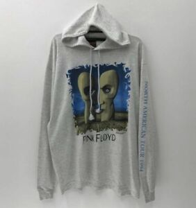 Vintage 1994 Pink Floyd Division Bell Hooded Long Sleeve T Shirt Size XL Hoodie