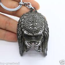 New Predators Alien vs. Predator 3D Mask Silver Metal Keyring Keychain