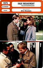 Fiche Cinéma. Movie Card. Faux mouvement/Falsche bewegung (Allemagne) 1975