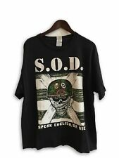 90s vtg S.O.D Speak English Or Die Storm Troopers Death Rare T-Shirt XL