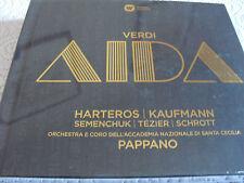 "VERDI ""Aida"" duro Eros/Kaufmann-Hardcover Deluxe Edition 3-cd 2015 NUOVO & OVP"