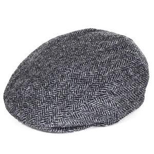 Failsworth Stornoway Harris Tweed Flat Cap - Black/White
