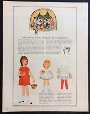 Vintage Betsy McCall Mag. Paper Doll, Betsy Prepares for Thanksgi, Nov. 1964