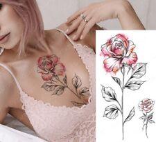 High Quality 21cm x 11cm Fake Temporary Tattoo Red Rose Flower /-b232-/