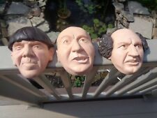 Vintage Heads Chalkware Wall Hanging Three Stooges