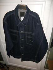 Sean John Dark Blue Button Front Denim Jacket Size Large NEW 100% Cotton