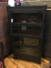Mission 4 High Stack Barrister Bookcase Arts & Crafts Globe Wernicke Mahogany