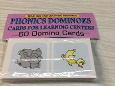 Phonics Dominoes - Cards for Learning Center 60 Laminated Cards -Set Teaching