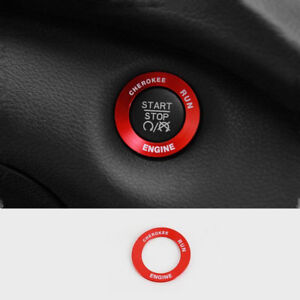 For Jeep Cherokee 2014 15 2016 2017 2018 Red START STOP Switch Button Cover trim