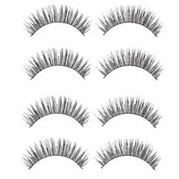 10PCS Handmade Eye Lashes Long Thick Cross False Eyelashes Beauty Makeup Tools