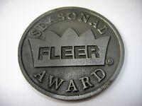 Collectible Medal Plaque FLEER Seasonal Award Large Coin Design