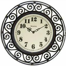 "Westclox 12"" See Through Wrought Iron Appearance Wall Clock"