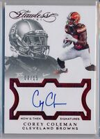 COREY COLEMAN - 2016 Flawless RUBY Rookie SP AUTO /15 - Cleveland Browns RC