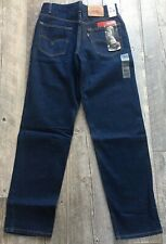 LEVI's 550 Mens Relaxed Fit Dark Blue 33 Waist length 30-36 & 38x36 or 40x34 NEW