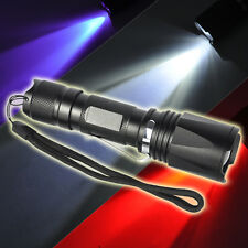 Jagd 2000LM 3 in 1 Weiß/Rot/UV LED Zoomable Taschenlampe Fackel Lampe adjustable
