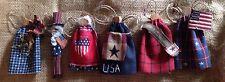NEW PRIMITIVE 4In USA AMERICANA UNCLE SAM MISS LIBERTY TREE ORNIE ORNAMENT Doll