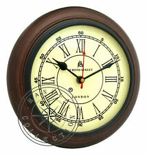 "Bond Street London Antique Style 8"" Wooden Wall Clock Nautical Home/Office Decor"