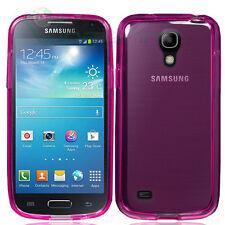 Custodia Perfect Fit trasparente rosa per Samsung Galaxy S4 mini i9195 cover