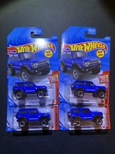 Hot Wheels 2021 - '21 FORD BRONCO -  100/250 - HW Then And Now 3/10 - Lot of 4