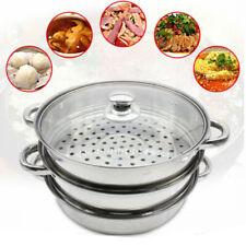 3tier steamer cooker Steam pot set Stainless Steel Kitchen cookware 28cm Hot Pot