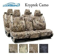 Coverking Custom Seat Covers Ballistic Canvas Front and Rear Row - Kryptek Camo