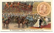 1896.TSAR DE RUSSIE A PARIS.F.FAURE PRéSIDENT.ALLIANCE FRANCO-RUSSE.