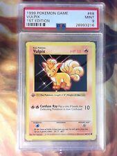 1999 Pokemon Game 68 Vulpix 1st Edition Shadowless PSA 9 Mint Card