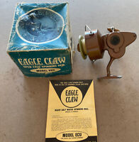 Wright McGill Eagle Claw Model ECU Italy Spinning Fishing Reel Copper Vintage