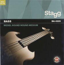 E-Basssaiten Bassaiten Satz 045-105 Bass-Gitarre Bass Saiten Seiten Stagg BA4505