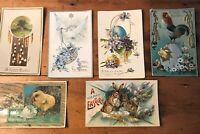 Lot of 5 Antique Easter Holiday Postcards Used And Stamped