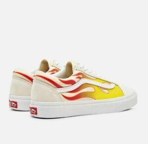 Vans Old Skool Skate Shoes Size 9.5 White Flame
