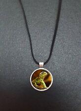 """Lézard pendentif sur un 18"""" noir cord collier cadeau idéal N347"""
