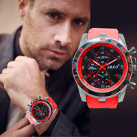 Luxury Military Men's Watch Stainless Steel Date Sport Analog Quartz Wrist Watch
