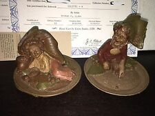 Tom Clark Gnomes (2) ANAHEIM & COLETTE Collectible Collector Plate Gibson Girl