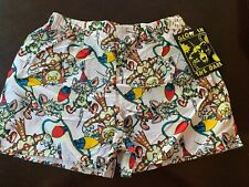 Vintage 1990s Addiction Glow In The Dark Boxer Shorts New With Tags Medium