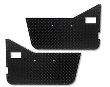 Jeep Wrangler YJ Diamond Plate Half Door Interior Panels (Black) 🌟EUC🌟