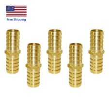 """5Pcs 5/8"""" ID Hose Brass Barb Fitting Straight Barb Hose Connector Water/Fuel/Air"""