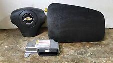 07 08 09 Chevrolet Cobalt Air Bag Set Wheel Dash Module Black