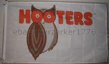 Hooters Restaurant New 2013 - Now White 3'x5' Flag Banner - USA Seller Shipper