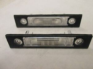 00 01 02 Volvo License Plate Light Lamp Cover V40 ((SET))