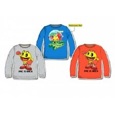 Boys Official Pac Man T-Shirt Retro Gaming Top Kids Long Sleeve Tee New Age 2-8