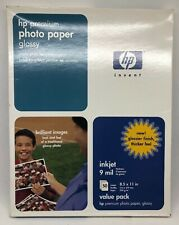 """HP Premium Photo Paper Glossy 8.5"""" x 11"""" C6979A 50 Sheets 9 Mil NEW SEALED"""