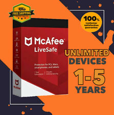 McAfee LiveSafe Antivirus Unlimited Device PC | 1 to 5 Year GLOBAL
